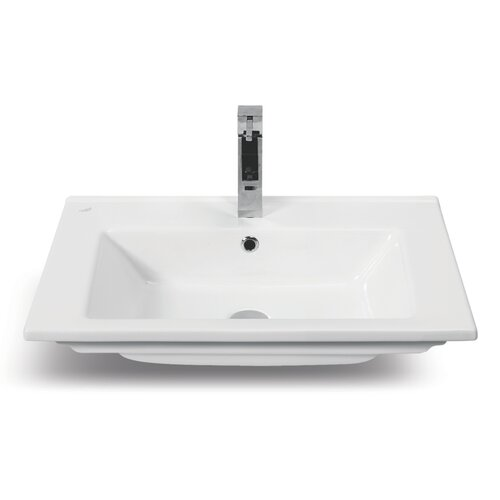 Arte Rectangle Ceramic Self Rimming Bathroom Sink