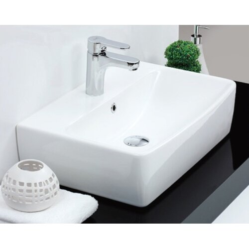 Poco Rectangle Ceramic Bathroom Sink
