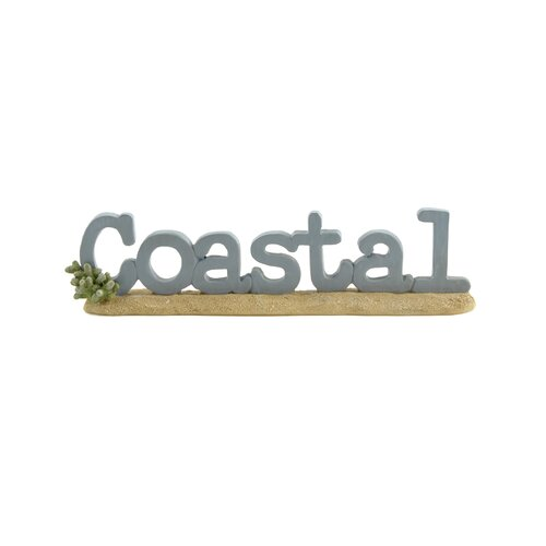 "Blossom Bucket ""Coastal"" on Sand Base Statue"