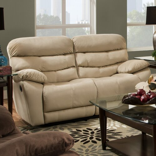 Maximus Lay Flat'' Reclining Loveseat