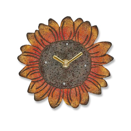 Sunflower Wood Magnet Wall Clock