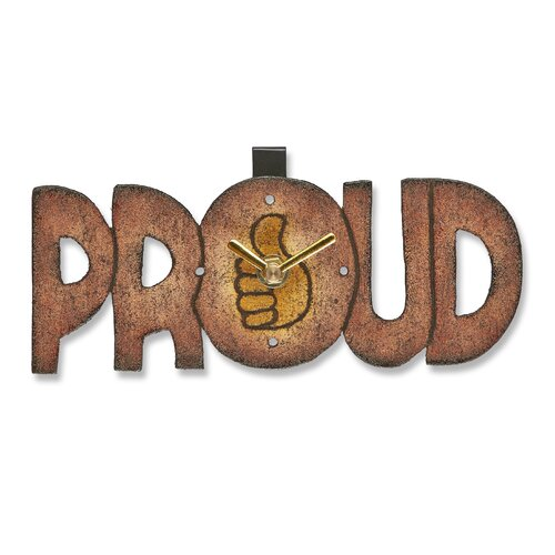 Proud Wood Magnet Wall Clock