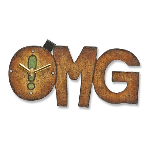 OMG Wood Magnet Wall Clock