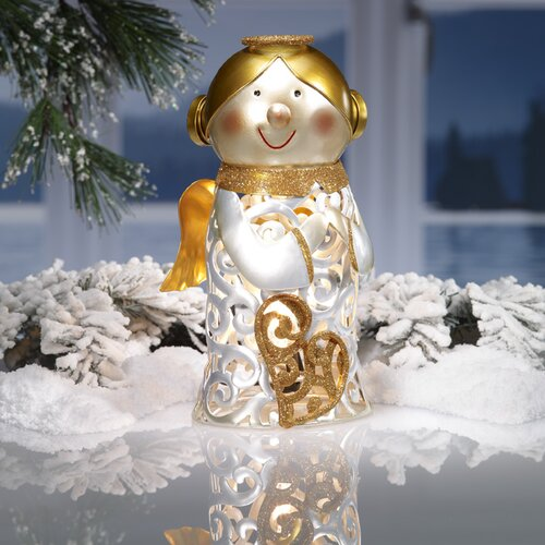 Figurine Angel Luminary Light Christmas Decoration