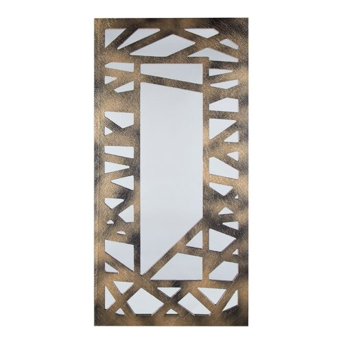 Criss Cross Design Decorative Mirror