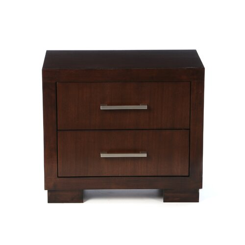 Wildon Home ® Jessica Light 2 Drawer Nightstand