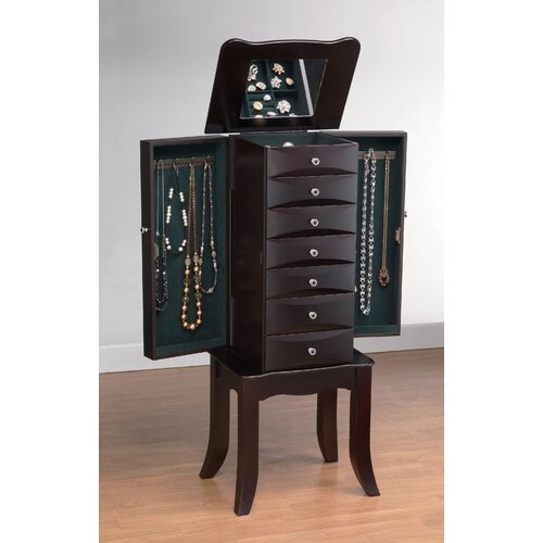 Wildon Home ® Teresa Jewelry Armoire with Mirror