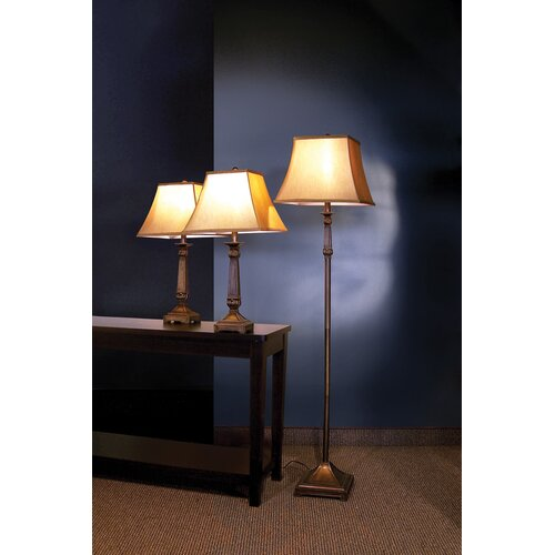 Wildon Home ® Athens Traditional 3 Piece Table Lamp Set