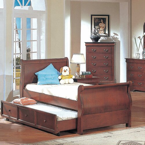 Wildon Home ® Louis Philippe Sleigh Bed in Cherry