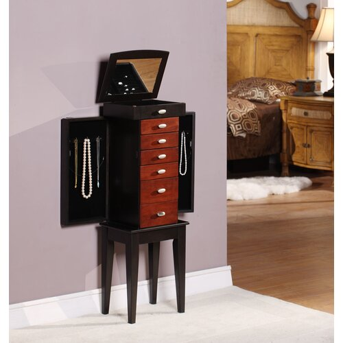 Wildon Home ® Southport 6 Drawer Jewelry Armoire with Mirror