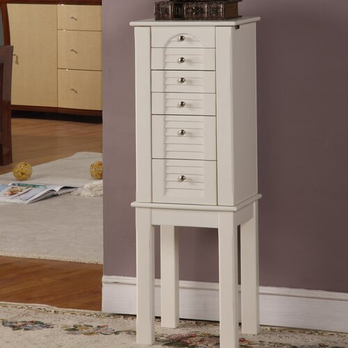 Winston 5 Drawer Jewelry Armoire with Mirror