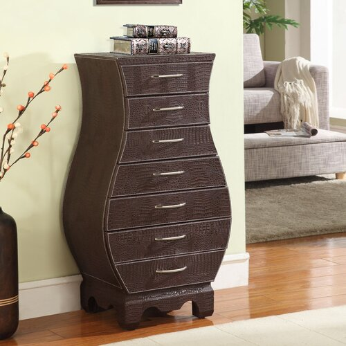 Coco 7 Drawer Jewelry Armoire