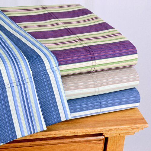 Wildon Home ® Lindsey Stripe 300 Thread-Count Sheet Set