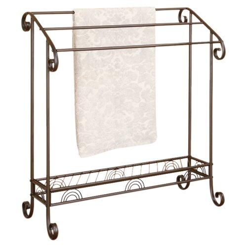 Wildon Home ® Scroll Towel Rack in Red Coffee