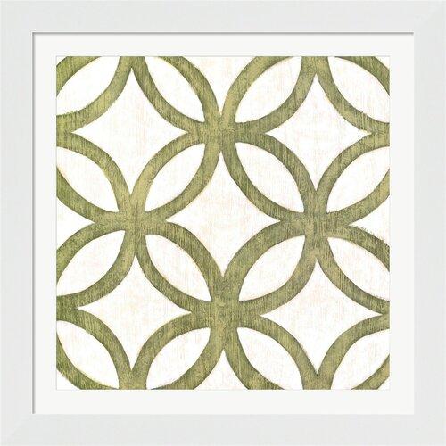 Evive Designs Garden Tile III Chariklia Zarris Framed Graphic Art