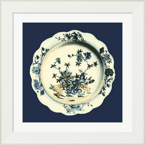 Porcelain Plate I by Vision studio Framed Graphic Art