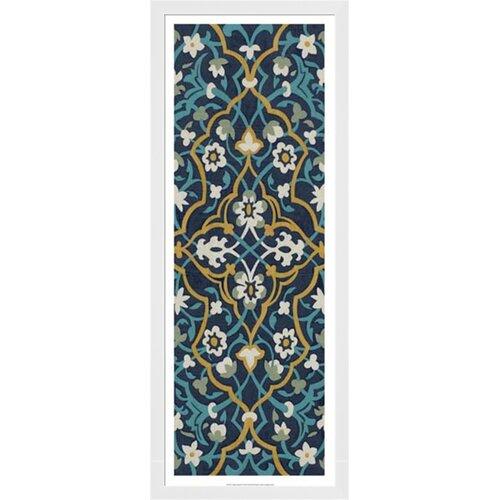 Cobalt Tapestry I by Chariklia Zarris Framed Graphic Art