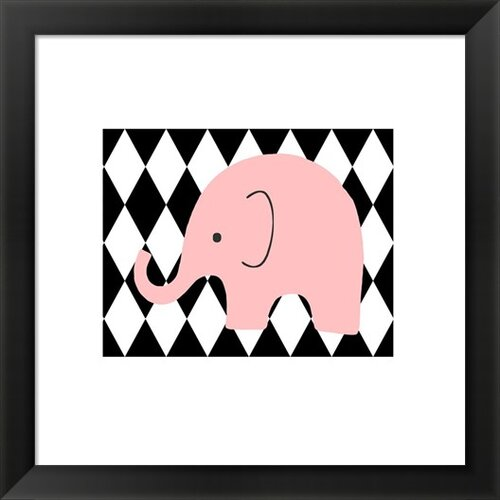 Evive Designs Elephant Harlequin Framed Art