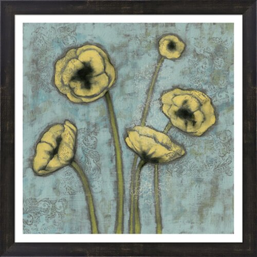 Sun Poppies I by Jennifer Goldberger Framed Painting Print