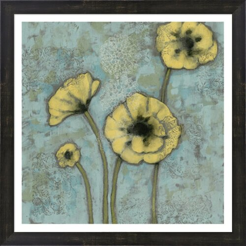 Sun Poppies II by Jennifer Goldberger Framed Painting Print