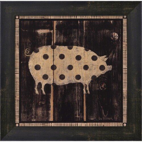 Polka Pig I by Lisa Hilliker Framed Painting Print