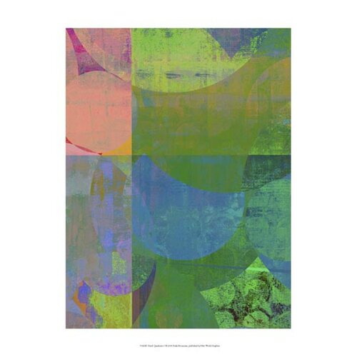 Pastel Quadrants I by Ricki Mountain Graphic Art