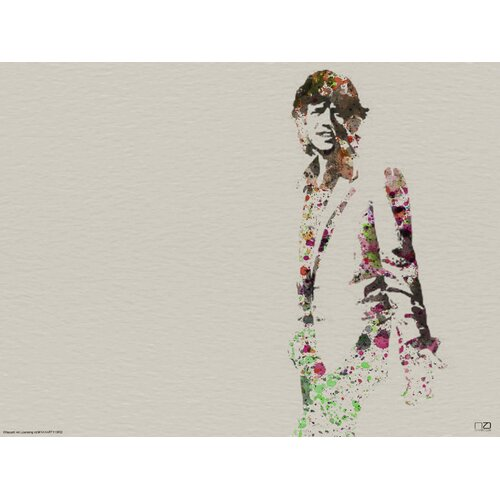 Mick Jagger Watercolor by Naxart Painting Print