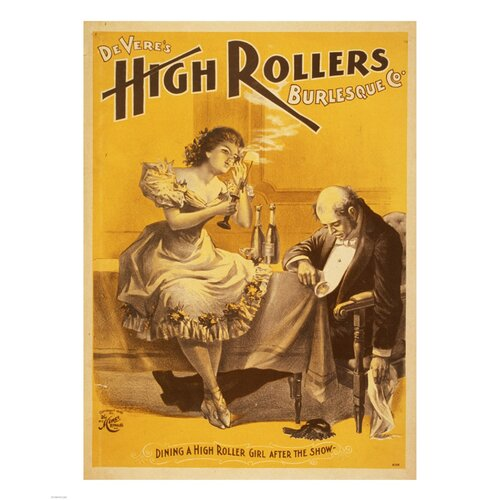 Dining a High Roller Girl after the Show Vintage Advertisement