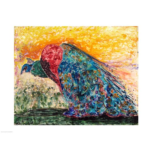 Peacock by Natalie Talocci Painting Print