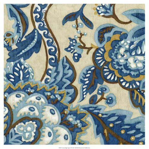 'Custom Indigo Tapestry II' by Chariklia Zarris Painting Print