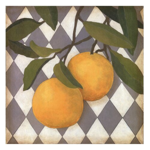 Fruit and Pattern IV Megan Meagher Painting Print