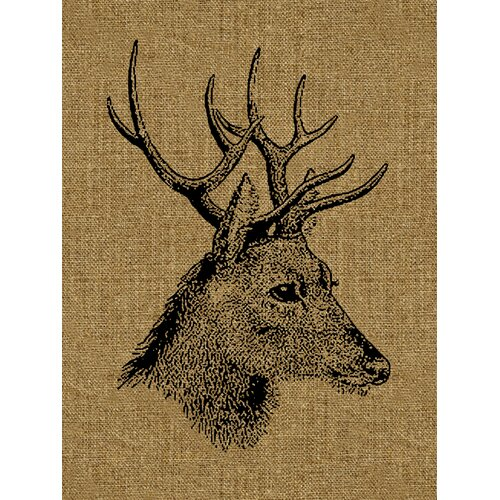 Stags Head by Kikki Sullivan Graphic Art