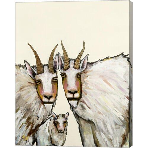 'Goats' by Eli Haplin Painting Print on Canvas