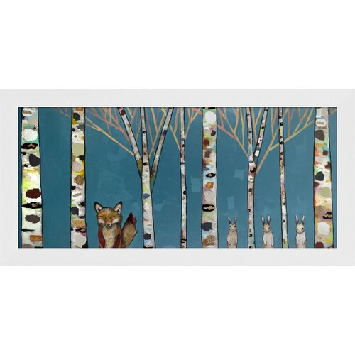 'Fox and Rabbit Forest' by Eli Halpin Framed Painting Print