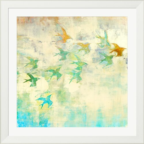 Oiseaux 2 by Maeve Harris Framed Painting Print