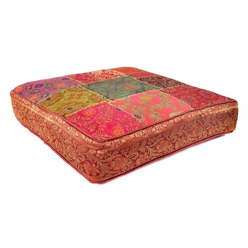 Patchwork Sari Brocade Square Pillow