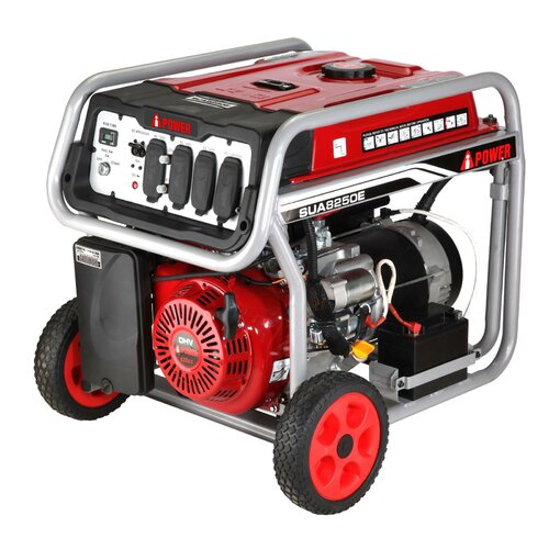 A-iPower Electric Start 8,250 Watt Gasoline Generator with Wheel Kit and Battery