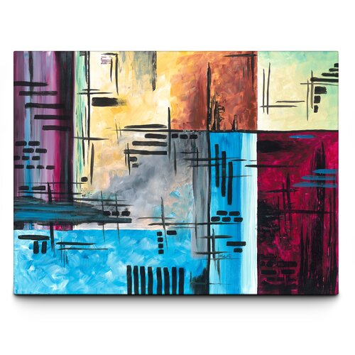 Bold Fusion Painting Print on Canvas