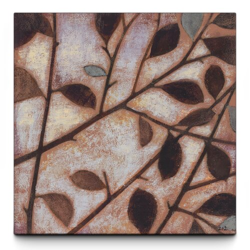 Windy Branches Textured Painting Print on Canvas