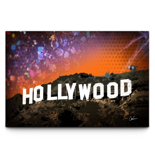 Hollywood Graphic Art on Canvas