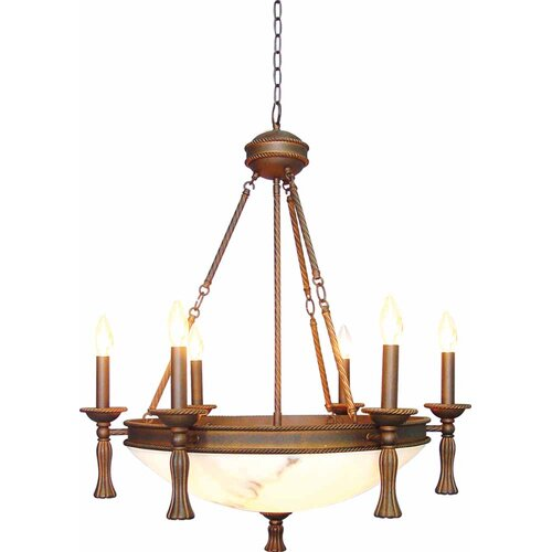 Clifden 6 Light Candle Chandelier