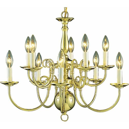 10 Light Candle Chandelier