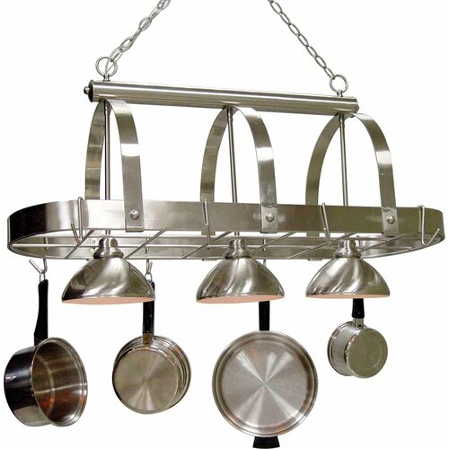3 Light Pot Rack