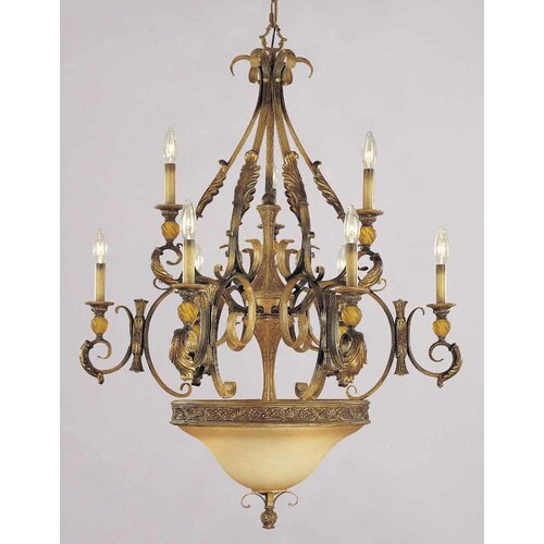Venetian 9 Light Candle Chandelier