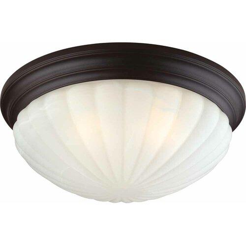 Volume Lighting 3 Light Ceiling Fixture Flush Mount