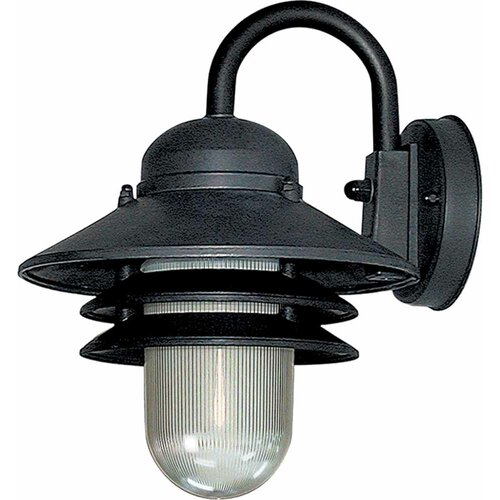 volume lighting 1 light outdoor wall mounted light fixture reviews. Black Bedroom Furniture Sets. Home Design Ideas