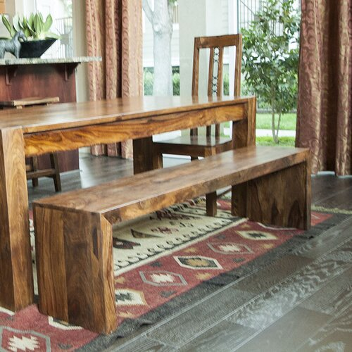 Emmerson Solid Seesham Wood Kitchen Bench