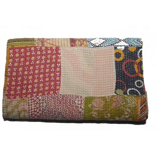 Timbergirl Handmade Vintage Kantha Cotton Throw