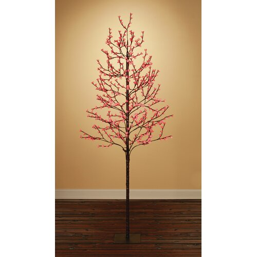7.5' Blossom Artificial Christmas Tree with 512 Red LED Lights