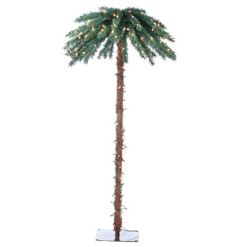 Sterling Inc. 6' Green Tropical Artificial Christmas Tree with 200 Clear Lights with Base
